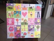 Canvas Alphabet Art for Little Girl McKellar Belconnen Area Preview