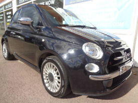 Fiat 500 0.9 TwinAir ( 85bhp ) ( s/s ) LOUNGE Full S/H Low miles 34k