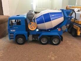 Bruder toy cement mixer truck