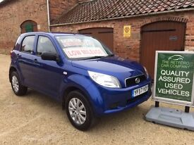 2008 DAIHATSU TERIOS 1.5 4X4 AWD, STUNNING LOW MILEAGE EXAMPLE, FROM THE RETFORD CAR COMPANY.