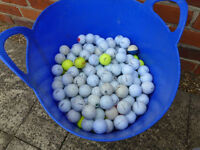 Bucket of 320 Golf Balls, various colours and makes Titleist, Nike, Gallaway