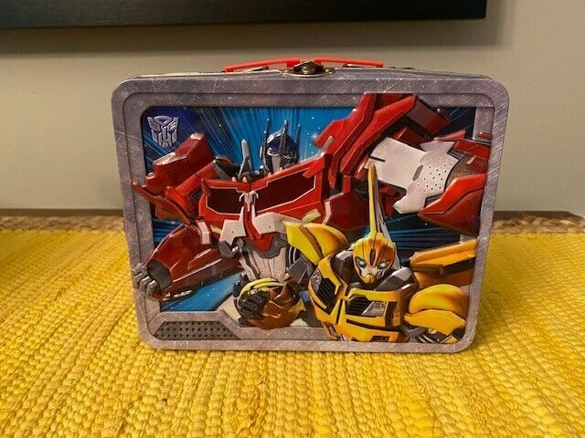 Transformers Robots in DisguiseMetal Party Favor/Lunch Box Used