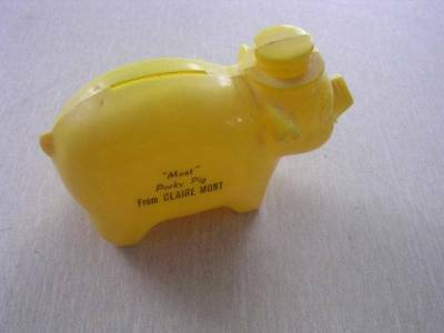 """Neat Vintage """"Meat"""" Porky Pig from Claire Mont Plastic Bank"""