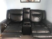 Black Leather Twin Recliner