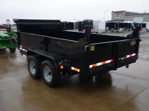Telescopic 3 stage dump trailers in stock - 6 x 12 - 5 ton -SAVE London Ontario image 5