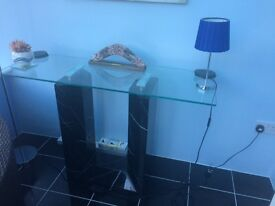Glass and Marble display / Console table