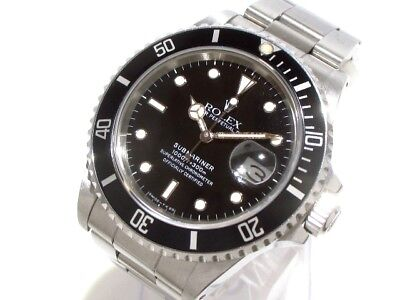 Auth ROLEX Submariner 16800 Silver Men
