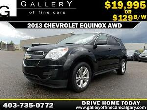 2013 Chevrolet Equinox LS AWD $129 bi-weekly APPLY NOW DRIVE NOW