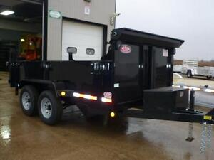 Telescopic 3 stage dump trailers in stock - 6 x 12 - 5 ton -SAVE London Ontario image 4