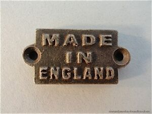 FANTASTIC-SMALL-MADE-IN-ENGLAND-CAST-IRON-PLAQUE-FURNITURE-LABEL-SIGN-MOUNT