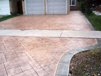 PROFESSIONAL STAMPED COLOR CONCRETE - BOOK NOW FOR SPRING