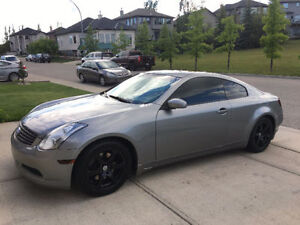2006 Infiniti G35 Coupe with Winter Tires & 2 Way Remote Starter