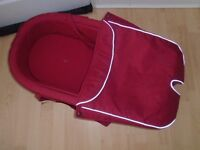 Stokke Xplory red carrycot-post it