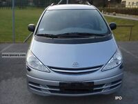 2002 TOYOTA PREVIA LIGHT BLUE BREAKING FOR PARTS