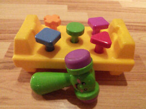 TOYS roly poly, corn popper push toy, rock a stack, piano