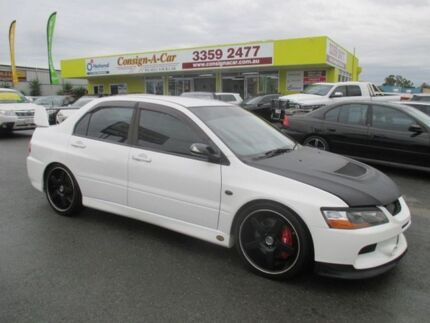 2007 Mitsubishi Lancer CY MY07 Evolution IX White 6 Speed Manual Sedan