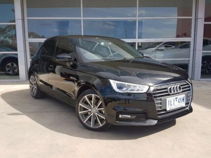 2017 Audi A1 8X MY17 Sport Sportback S tronic Black 7 Speed Sports Automatic Dual Clutch Hatchback