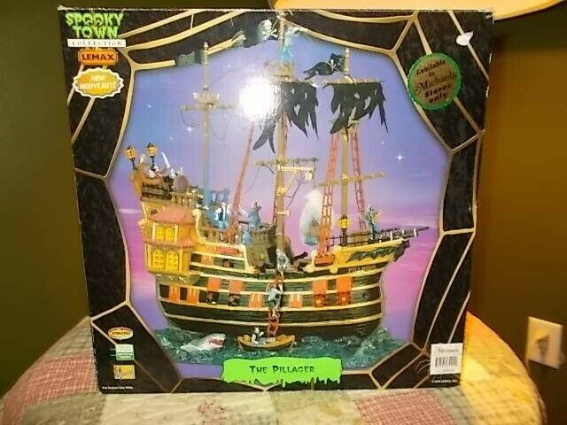 Lemax Spooky Town The Pillager Pirate Ship Halloween Animated W/lights & Sounds