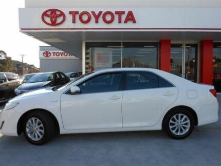 2014 Toyota Camry AVV50R Hybrid H Diamond White Continuous Variable Sedan Allawah Kogarah Area Preview