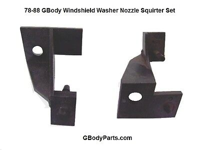 78-88 Monte Carlo Cutlass Malibu GN Windshield Wiper Washer Squirter Nozzle Set -