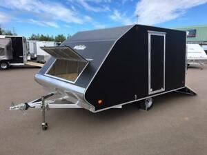 "NEW 2018 XPRESS 101"" X 12' DELUXE SNOWMOBILE TRAILERS"