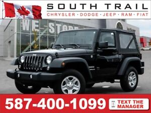 '15 Jeep Wrangler - Manual, CD Plyr, Aux in, SofTop, Hitch
