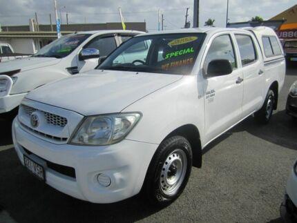 2010 Toyota Hilux Work Mate 2.7VVti White 5 Speed Manual Dual Cab