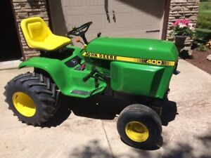 TRADE FOR FLAT BED TRAILER, 1976 JOHN DEERE 400 LAWN TRACTOR