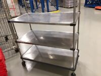 Stainless Steel Shelf on wheels