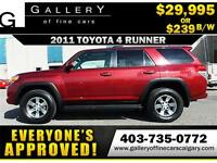 2011 Toyota 4Runner SR5 AWD $239 bi-weekly APPLY NOW DRIVE NOW