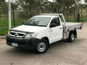 2010 Toyota Hilux TGN16R MY10 Workmate 4x2 White 4 Speed Automatic Cab Chassis Mill Park Whittlesea Area Preview