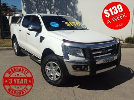 2013 Ford Ranger PX XLT DOUBLE CAB MANUAL TURBO DIESEL White Manual Utility