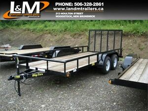 "NEW BIG TEX 77"" X 16' UTILITY TRAILERS"