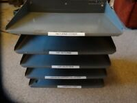 Bisley 5 level filing tray
