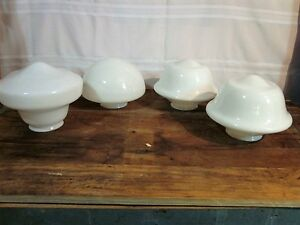Antique 4 Globes Antique Milk Glass