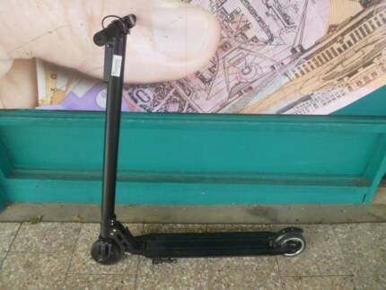 Black Electric Scooter With Charger