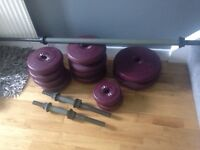 DP Dumbell weights and bars