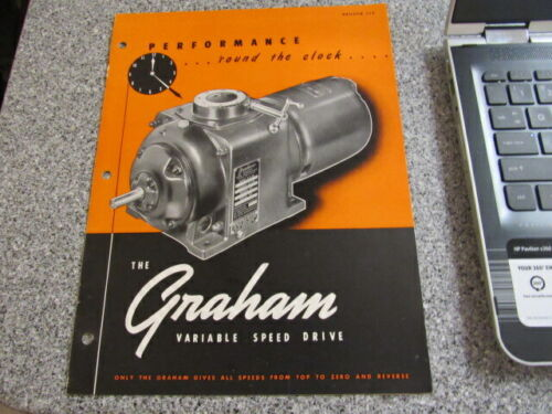 VINTAGE Equipment Brochure THE GRAHAM VARIABLE SPEED DRIVE FELLOWS SHAPER