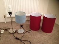 2 x lamps (Habitat & NEXT), plus 3 x lampshades light shades