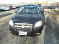 2009 Chevrolet Aveo Black cloth Sedan