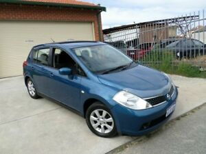 2007 Nissan Tiida C11 MY07 ST-L Blue 6 Speed Manual Hatchback Mount Lawley Stirling Area Preview