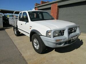 2003 Ford Courier PG XL (4x4) White 5 Speed Manual Super C/Chas Holden Hill Tea Tree Gully Area Preview
