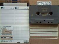 RARE MAXELL XLII 90 BLACK MAGNETITE CHROME CASSETTE TAPES. 1994-1995.