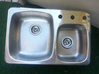 "STAINLESS STEEL SINK - 27.5"" x 18.25"""