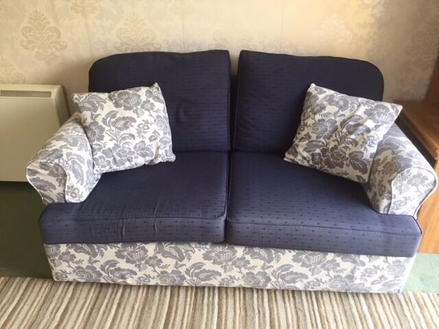 SOFA BED2 SEATER (DOUBLEin Totnes, DevonGumtree - Sofa bed 2 seater. Blue. Comfortable as a Sofa. Easy to open up as a bed. What more can you say about a sofa bed? If you would like to come and have a look, please call after 6.00 pm