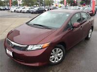2012 HONDA CIVIC LX - HONDA CERTIFIED - EXCELLENT CONDITION