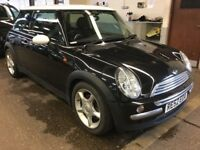 2002 MINI COOPER 1.6 PETROL MANUAL 3 DOOR HATCHBACK CHEAP INSURANCE MOT BLACK N 1 SERIES GOLF