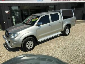 2009 Toyota Hilux SR5 Silver 4 Speed Automatic Dual Cab Biggera Waters Gold Coast City Preview