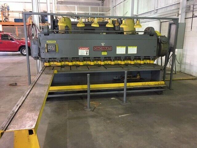 "3/16"" x 10ft CINCINNATI Mechanical Squaring Shear Model #2510"