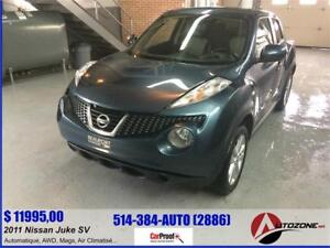 2011 Nissan JukeE SV AWD/AUTOMATIQUE/1.6 LITRE/4 CYLINDRE